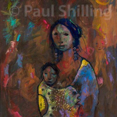 shilling_paul_woman_child_and_spirits